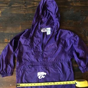 Youth Small K State Wildcats Windbreaker